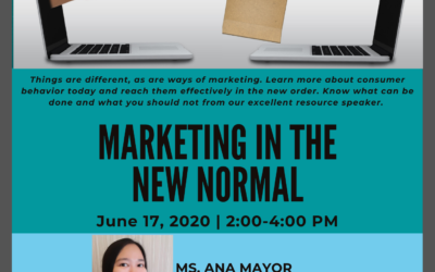 2nd UPMG TALKS AND 3rd GMM: MARKETING IN THE NEW NORMAL